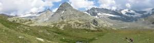 Panorama du col des Evettes