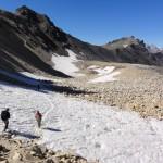 Le sentier vers la roche du Chardonnet