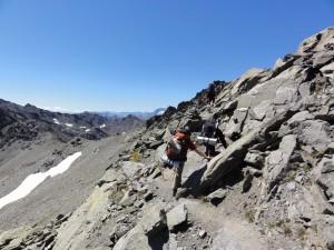 Passage de la roche du Chardonnet